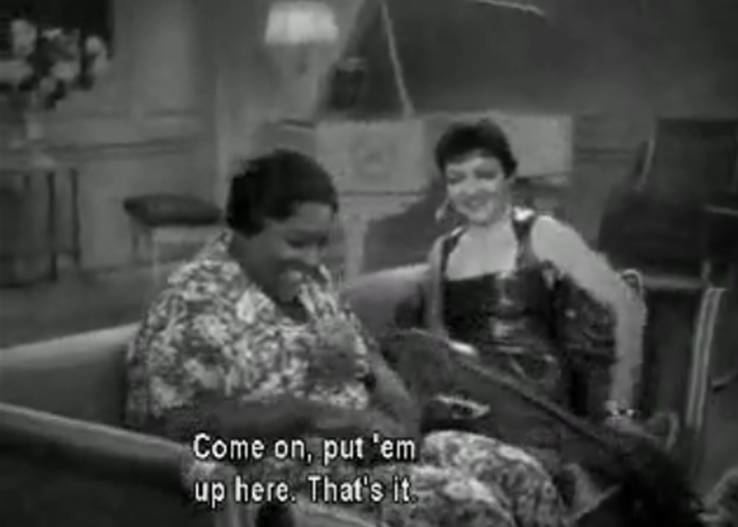 Mistress and Maid (1910 film) movie scenes In the one act play a black actress was the wealthy mistress getting her feet massaged by a white maid who spoke in broken english
