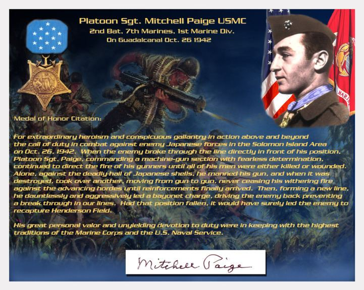 Mitchell Paige The Face of a Toy Doll is Molded in the Likeness of a WWII MOH