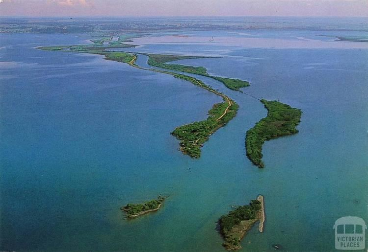 Mitchell River silt jetties Aerial view Mitchell River Silt Jetty second longest in the world