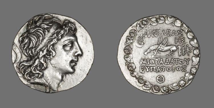 Mithridates VI of Pontus Tetradrachm Coin Portraying Mithradates VI of Pontus and
