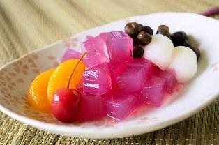Mitsumame Mitsumame Sweetened Red Beans Japanese Food Guide Oksfood