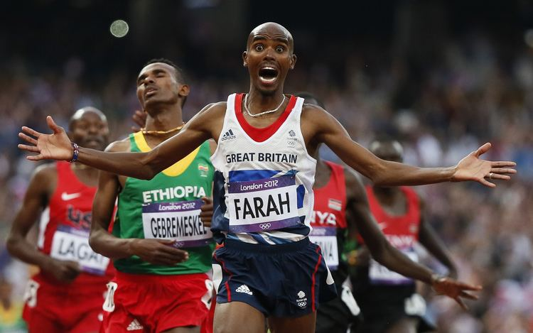 Mo Farah Britain39s Mo Farah makes history by defending 10000m