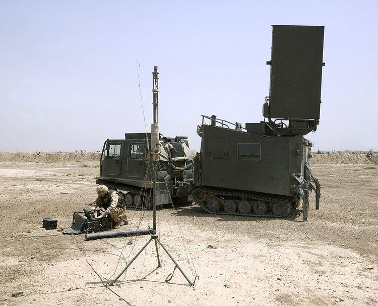 Mobile Artillery Monitoring Battlefield Radar