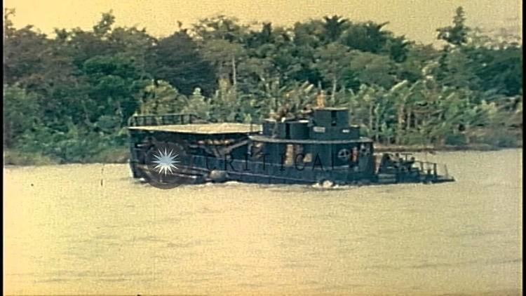 Mobile Riverine Force Men of US Mobile Riverine Force disembark from an ATC and go ashore