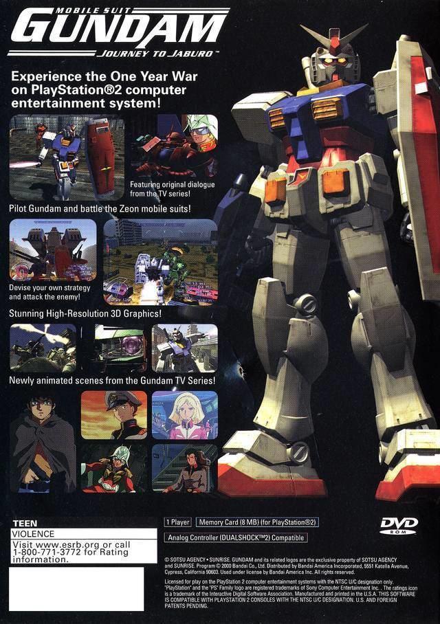 Mobile Suit Gundam: Journey to Jaburo Mobile Suit Gundam Journey to Jaburo Box Shot for PlayStation 2