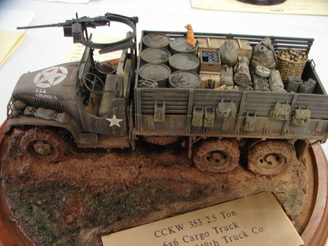 Model military vehicle