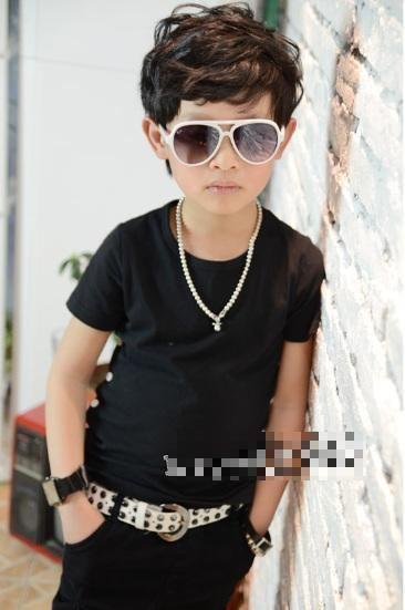 Modern Boy Modern Boy Button Black Shortsleeve Top GarmentSold Outibaymall
