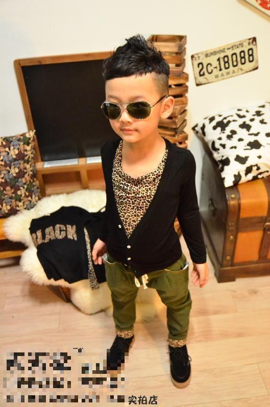 Modern Boy Modern Boy Leopard Longsleeve Top GarmentSold Outibaymall