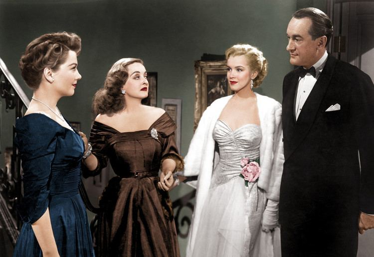 Modern Inventions movie scenes Anne Baxter Bette Davis Marilyn Monroe and George Sanders in All About Eve the Oscar winning film about ambition in the Big Apple 1950