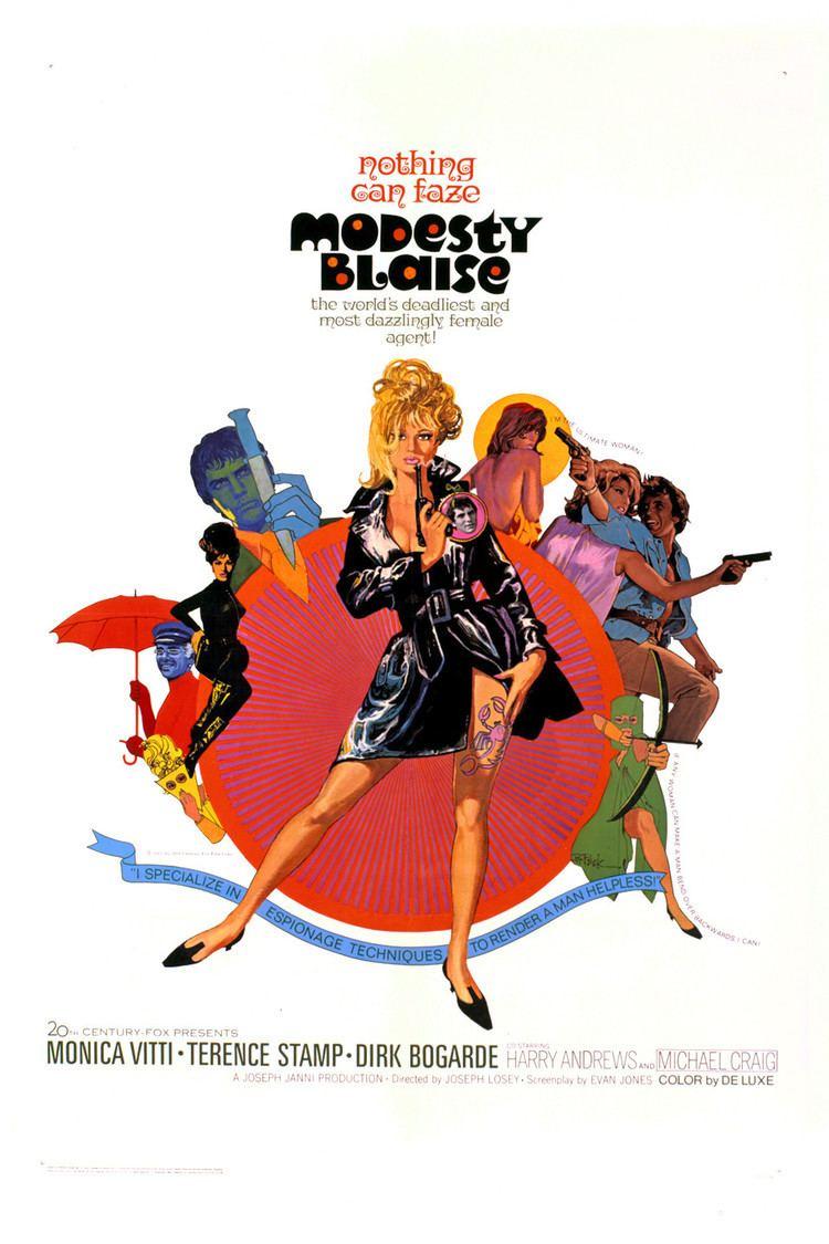 Modesty Blaise (1966 film) wwwgstaticcomtvthumbmovieposters3372p3372p
