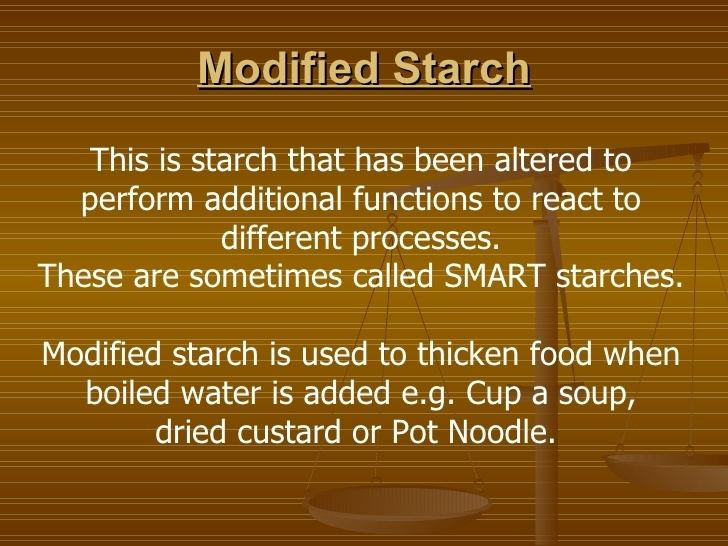 Modified starch Carbohydrates gelatinisation and modified starch