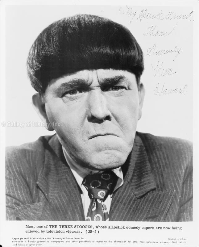 Moe Howard Moe Howard Entertainment Memorabilia eBay
