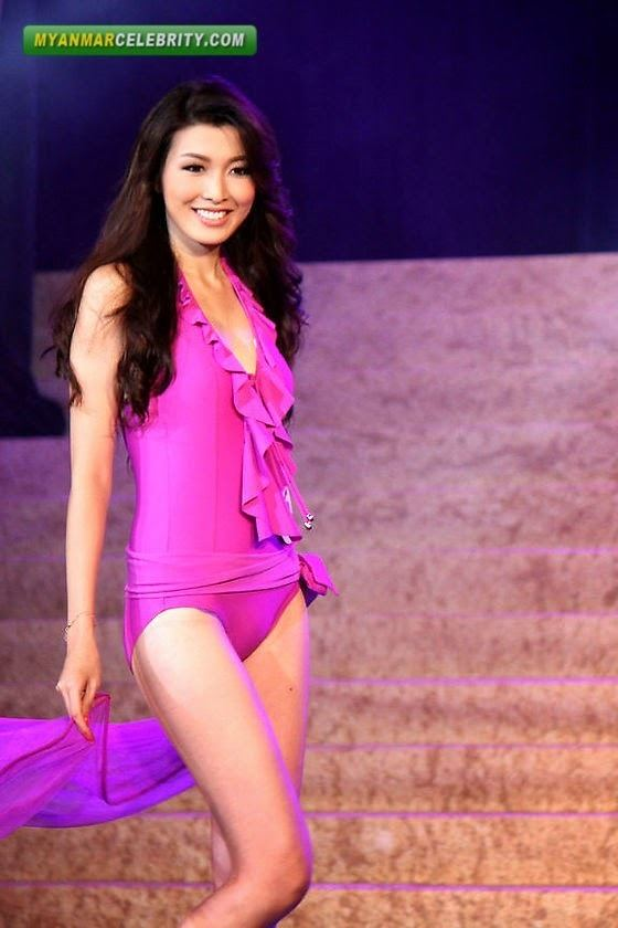 Moe Set Wine Miss Universe Myanmar 2013 Moe Set Wine in Swimsuit