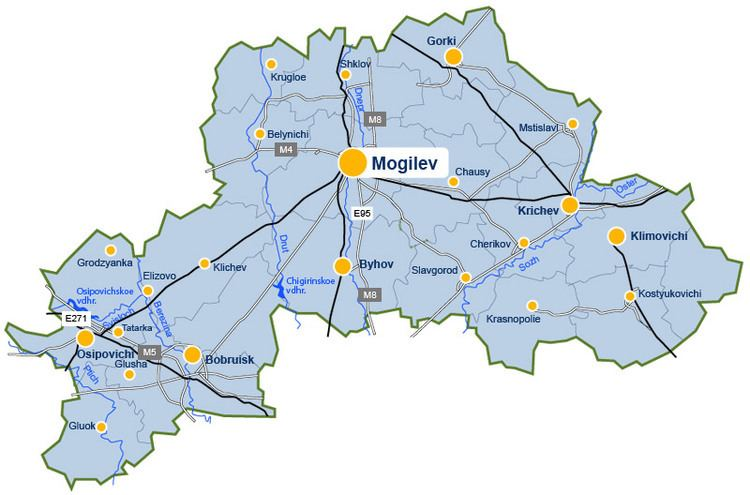 Mogilev Region The map of the Mogilev region Official Website of the Republic of