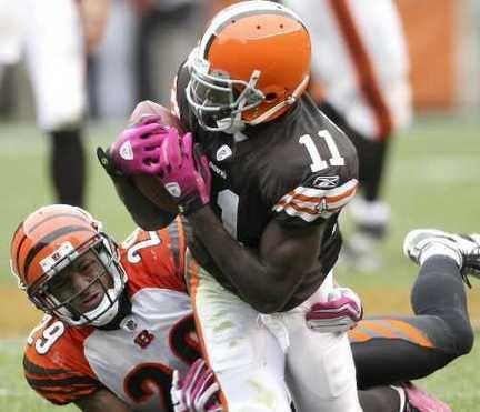 Mohamed Massaquoi Cleveland Browns39 Mohamed Massaquoi stars in loss to