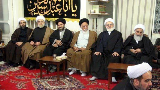 Mohammad Fazel Lankarani Mourning Ceremony in the Office of Late Grand Ayatollah Muhammad