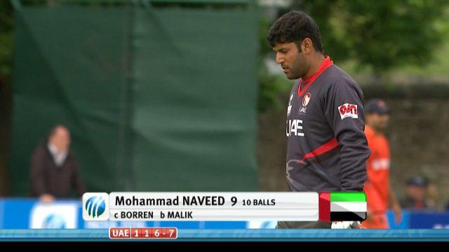 Mohammad Naveed Wicket UAE vs NED