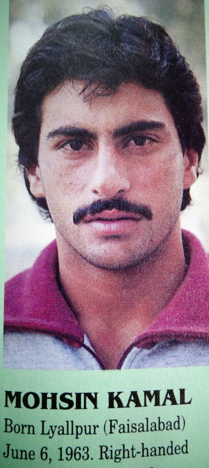 Former Pakistani Medium Fast Bowler Mohsin Kamal who was part of