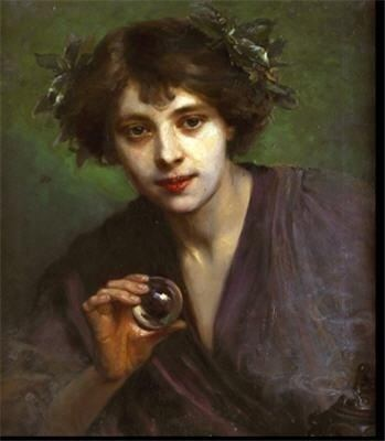 Moina Mathers Crystal by Beatrice Offor This painting was of Moina