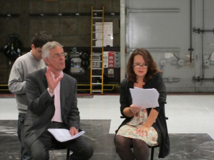 Moira Brooker Philip Bretherton and Moira Brooker at script readthrough