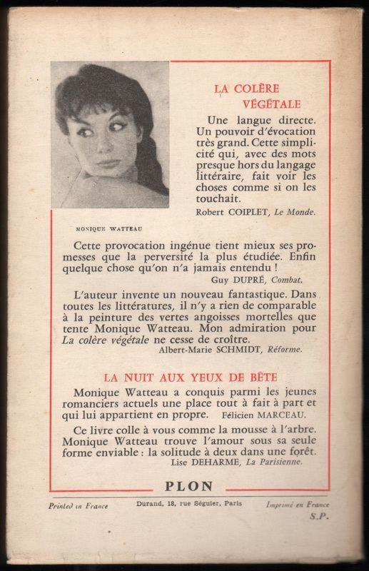 Monique Watteau wwwwantedrarebookscomimgfantastiquemonique