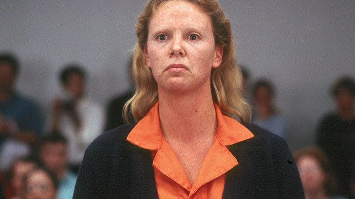 Monster (2003 film) movie scenes Monster 2003 Aileen Wournos as played by an incredibly transformed Charlize Theron invites our compassion as she dispatches nasty men with great