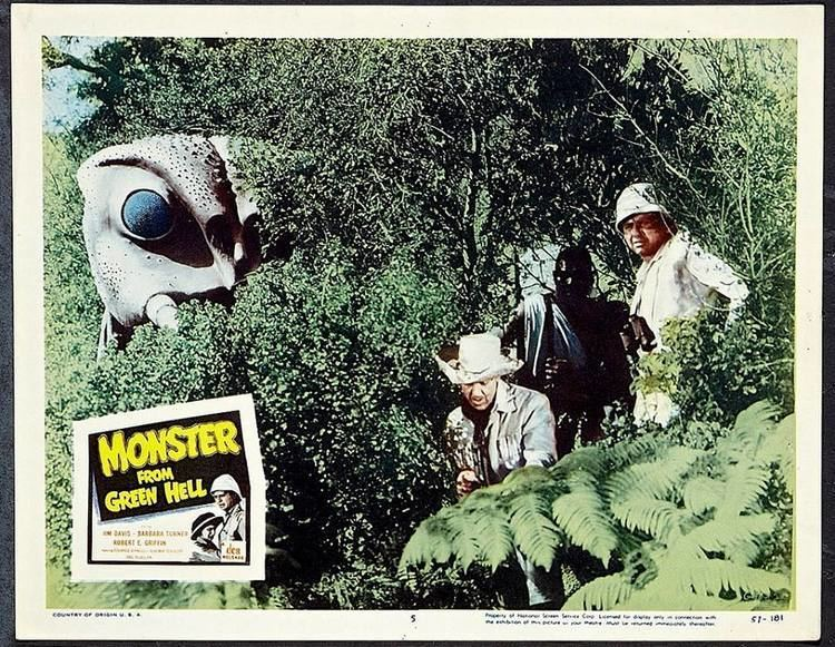 Monster from Green Hell movie scenes Monster from Green Hell is an American B movie from 1957 about a scientific expedition in
