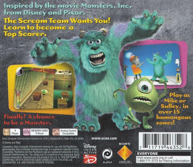 Monsters, Inc. Scream Team Monsters Inc Scream Team Box Shot for PlayStation GameFAQs