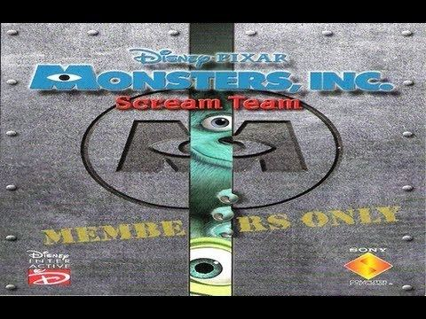 Monsters, Inc. Scream Team Classic PS1 Game Monsters INC Scream Team on PS3 in HD 1080p YouTube