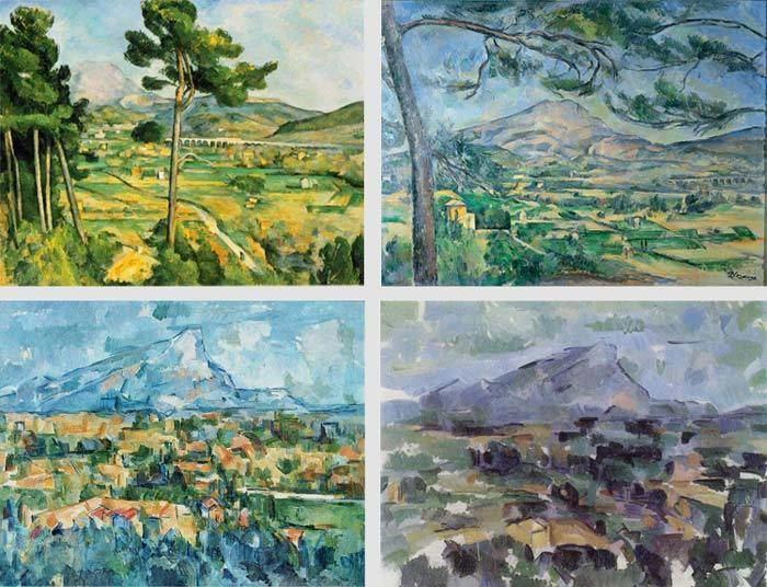 Mont Sainte-Victoire (Cézanne) Paul Czanne Montagne SainteVictoire series of paintings