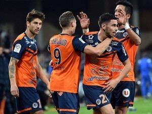 Montpellier HSC Team News Three up top for Montpellier HSC against SaintEtienne