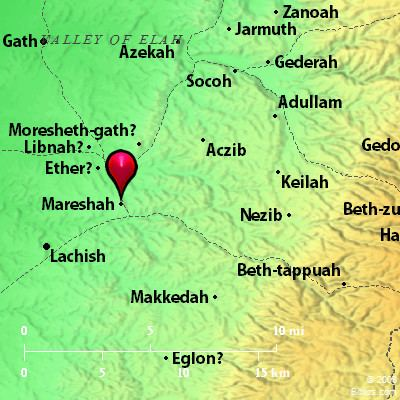 Moresheth-Gath Bible Map Moresheth Mareshah