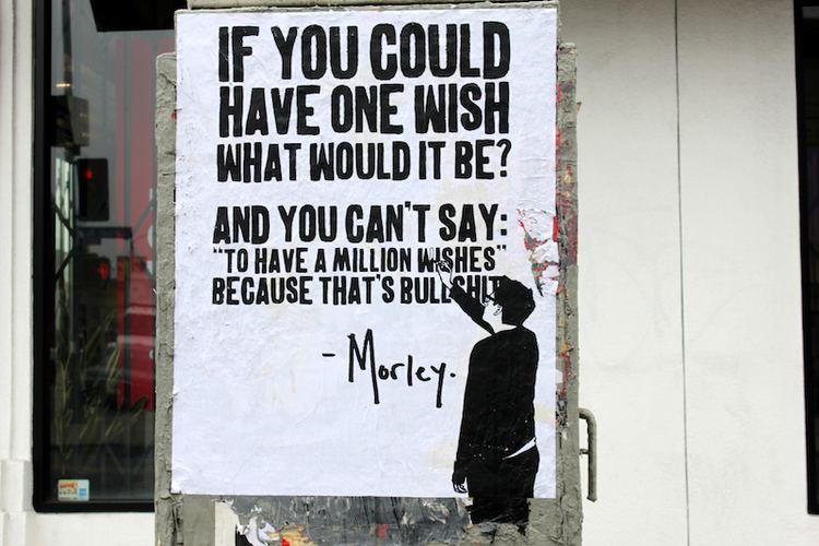 Morley (artist) Street art success through the internet Viral Art