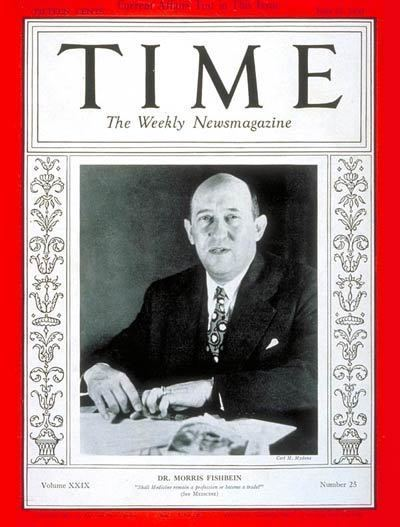 Morris Fishbein TIME Magazine Cover Dr Morris Fishbein June 21 1937