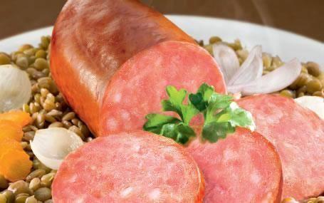 Morteau sausage Morteau Sausage with French Green Lentils Zoufbiz