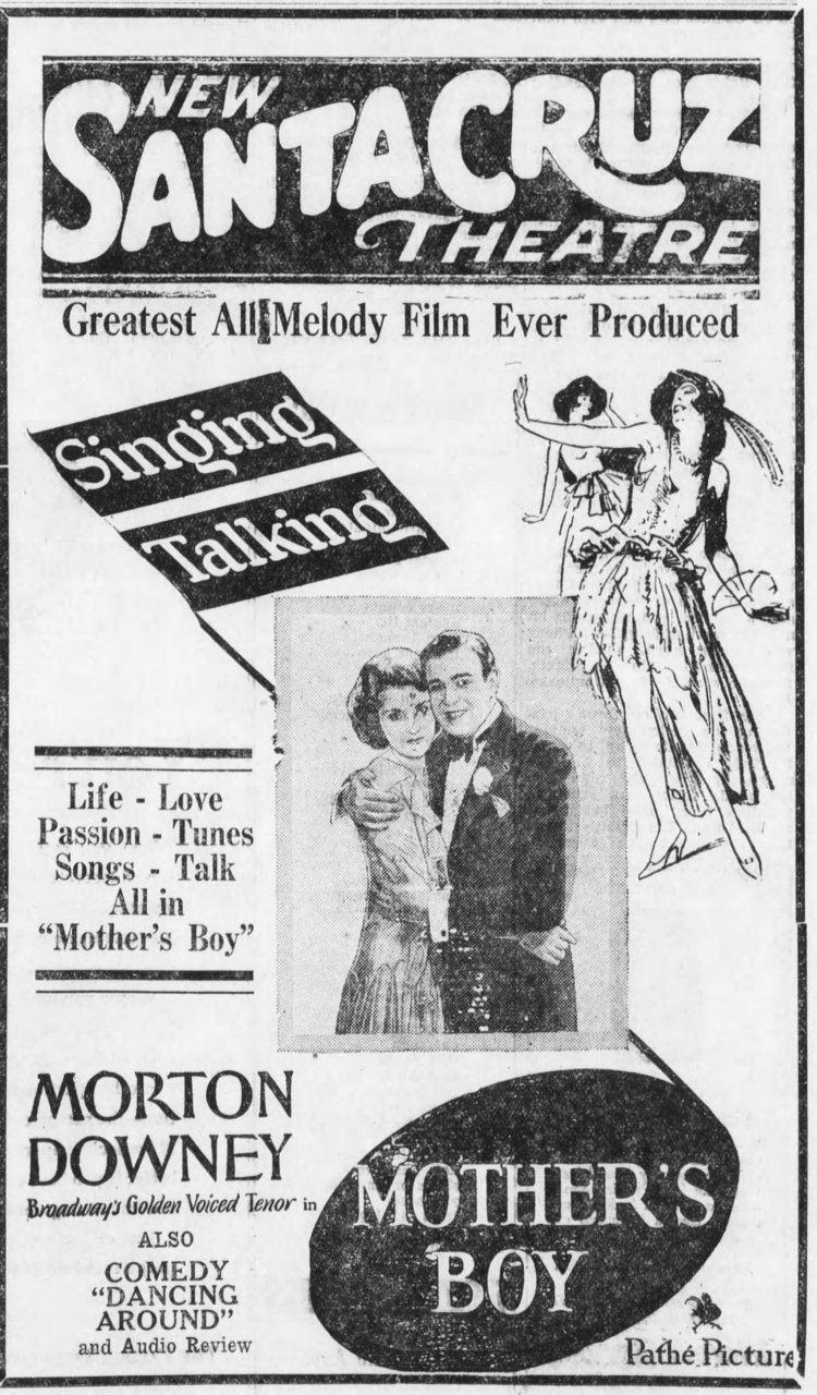 Mother's Boy (1913 film) Mothers Boy the First Path AllTalking AllSinging Moving