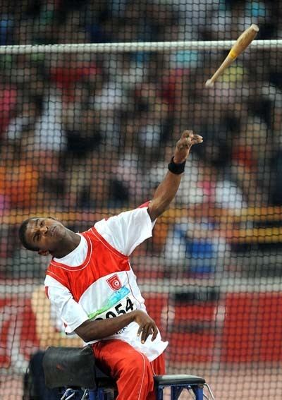 Mourad Idoudi Tunisias Mourad Idoudi wins Mens Club Throw F3251 gold china