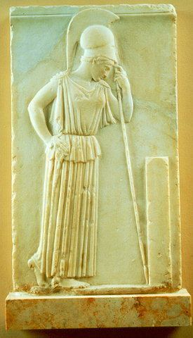 Mourning Athena Relief of the quotmourning athenaquot Acropolis museum Athens Greece