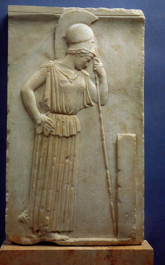 Mourning Athena Mourning Athenaquot by Unknown Sculptor c 470 BC Acropolis Museum