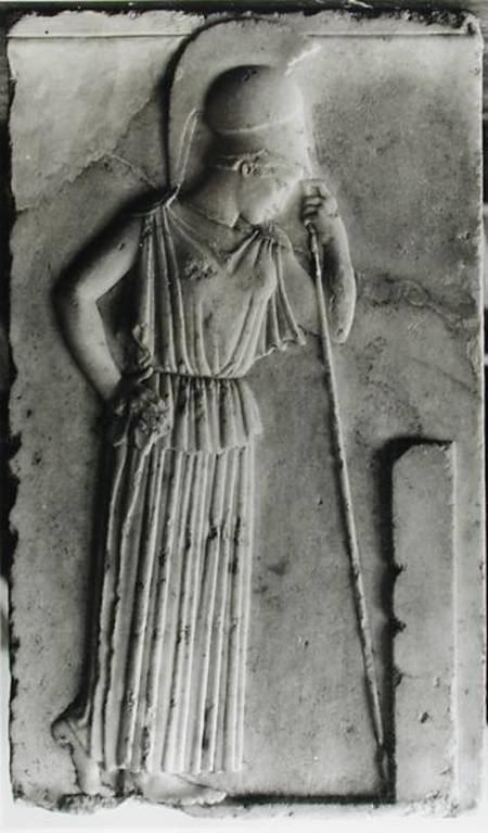 Mourning Athena Relief of the Mourning Athena Greek School as art print or hand