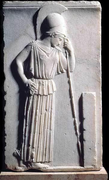 Mourning Athena wwwmlahanasdeGreeksArtsAthenaMourningjpg