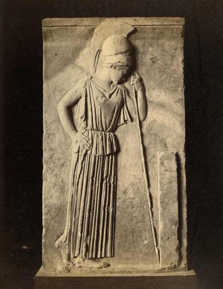 Mourning Athena Mourning Athena Relief 19th Century Architectural Photography