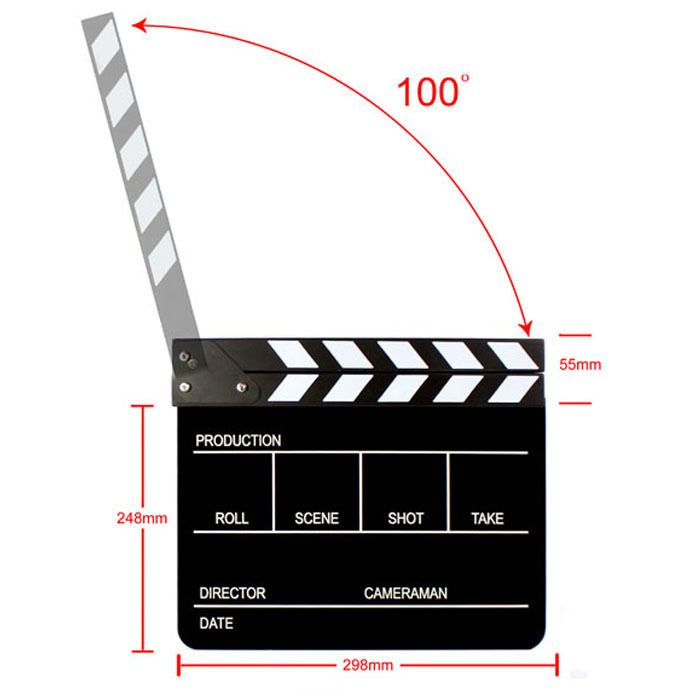 Mouse for Sale movie scenes  Best sell Clapperboard Director TV Film Movie Cut Action Scene Clapper Board I eat