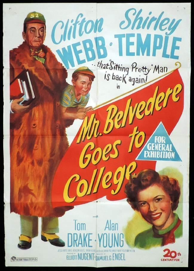 Mr. Belvedere Goes to College MR BELVEDERE GOES TO COLLEGE Original One sheet Movie Poster SHIRLEY