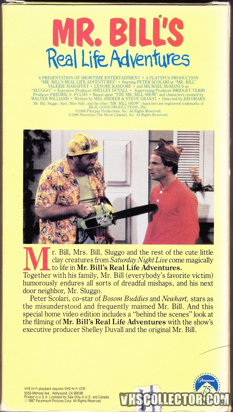 Mr. Bill's Real Life Adventures Mr Bills Real Life Adventures VHSCollectorcom Your Analog
