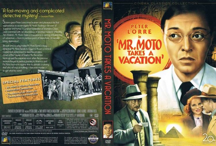 Mr. Moto Takes a Vacation Mr Moto Takes a Vacation 1939 FS R1 Movie DVD CD Label DVD