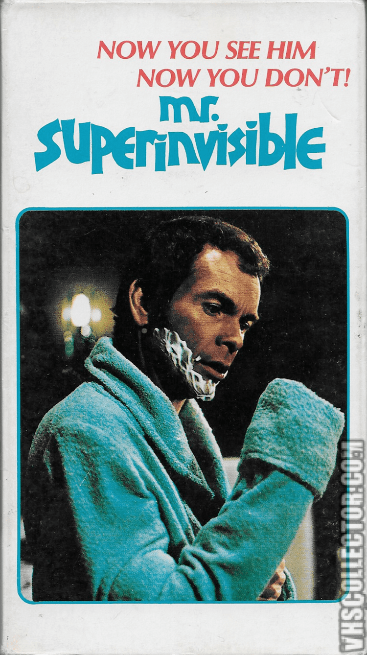 Mr. Superinvisible Mr Superinvisible VHSCollectorcom Your Analog Videotape Archive