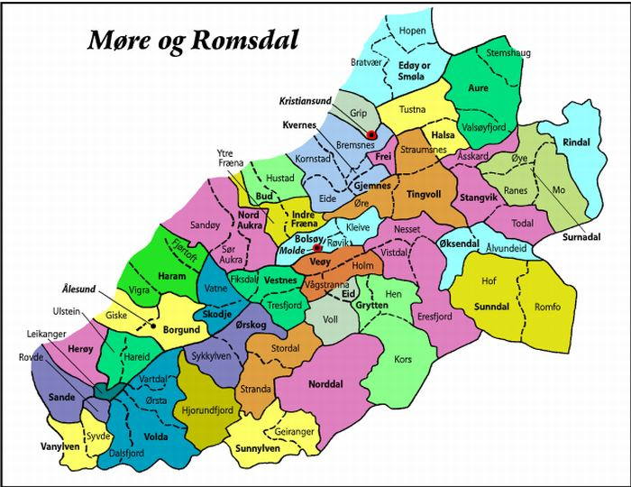 More og Romsdal in the past, History of More og Romsdal