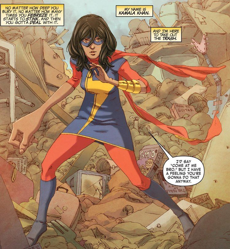 Ms. Marvel (Kamala Khan) Ms Marvel Audiobook featuring Kamala Khan