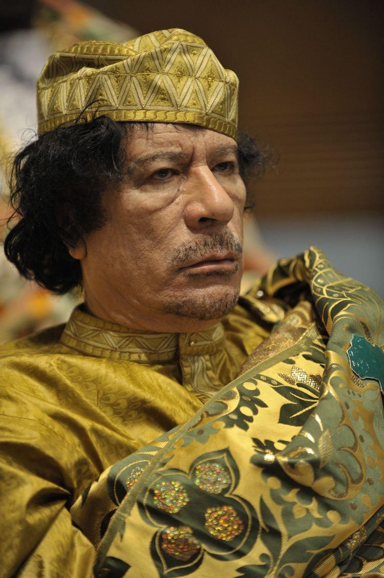 Muammar Gaddafi FileMuammar alGaddafi at the AU summitjpg Wikipedia